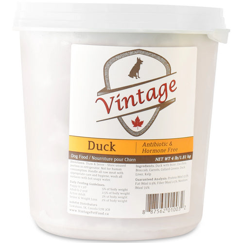 Vintage Raw 1.81kg Duck Dog Food
