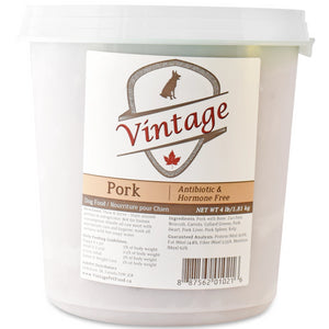 Vintage Raw 1.81kg Pork Dog Food