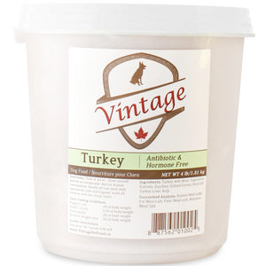 Vintage Raw 1.81kg Turkey Dog Food