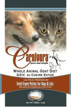 Load image into Gallery viewer, Carnivora Goat Diet Raw Dog Food
