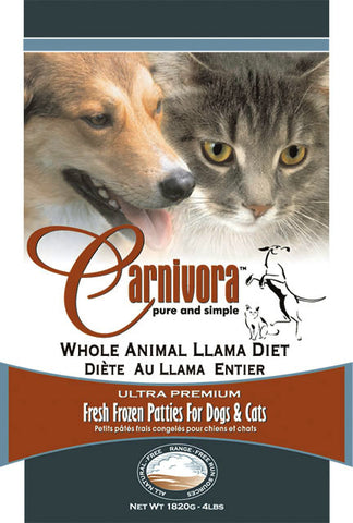 Carnivora Llama Diet Raw Dog Food