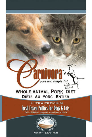 Carnivora Pork Diet Raw Dog Food