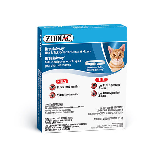 Zodiac Flea & Tick Cat Breakaway Collar