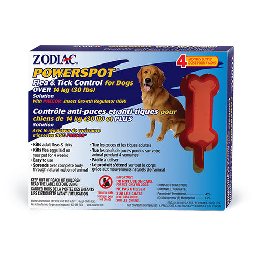 Zodiac Powerspot Tick and Flea Over 14kg