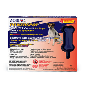 Zodiac Powerspot Tick and Flea Under 14kg