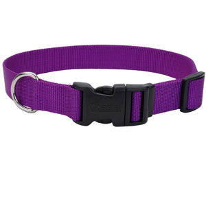 Coastal Adjustable Dog Collar Tuff Purple