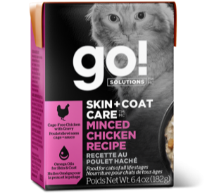 GO! Solutions Skin + Coat Care Minced Chicken Canned Cat Food
