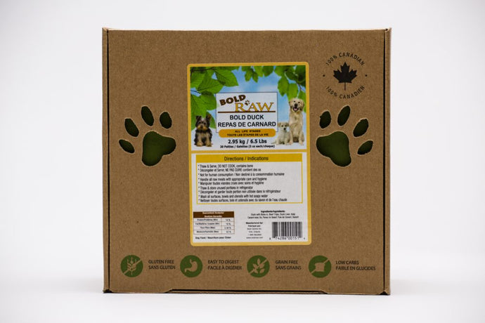 Bold Raw 2.95kg Duck Raw Dog Food