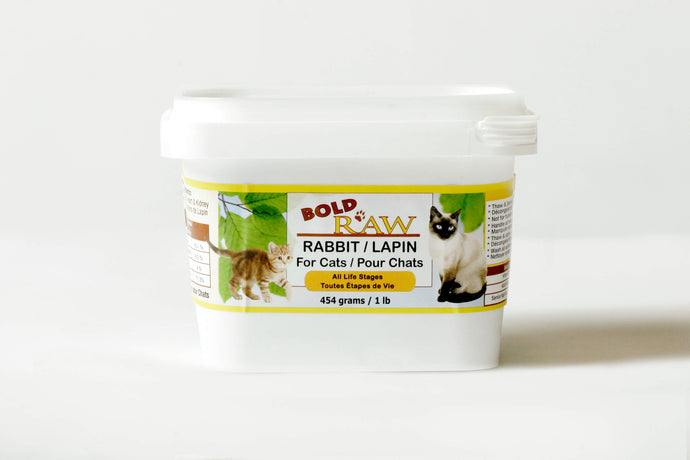 Bold Raw 454g Rabbit Raw Cat Food