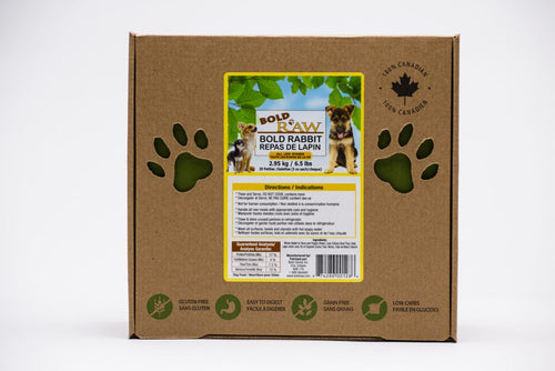 Bold Raw 2.95kg Rabbit Raw Dog Food