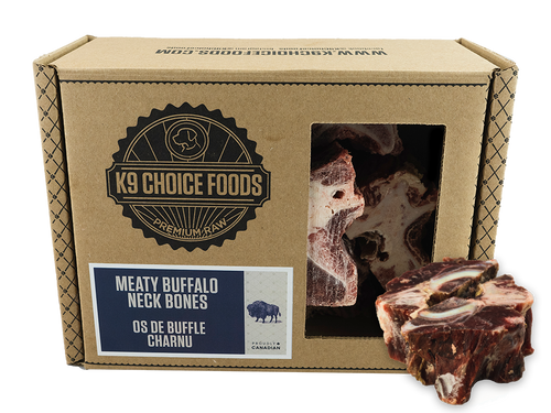 K9 Choice Buffalo Neck 1.36kg Raw Dog Chew