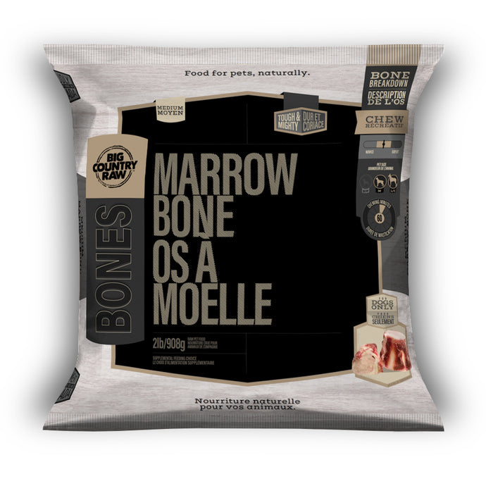 Big Country Raw Beef Marrow Bone Medium - 2 lb