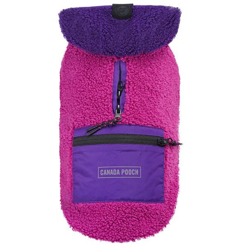 Canada Pooch Cool Factor Hoodie Pink and Purple Dog Coat