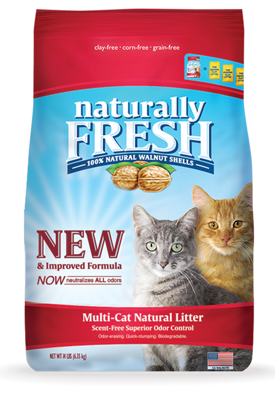 Naturally Fresh Walnut Based Multi-Cat Litter