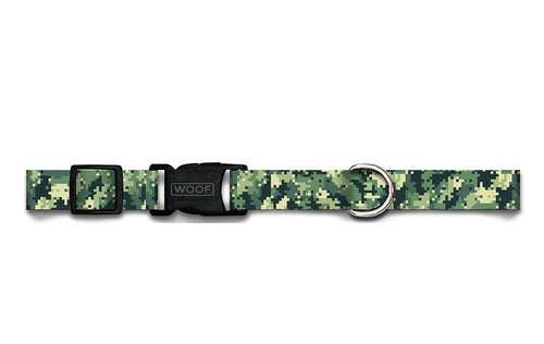 WOOF Adjustable Collar Digi-Camo