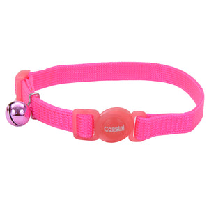 Coastal Adjustable Cat Collar 8-12IN Breakaway Pink