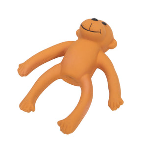Rascals Monkey Mini Orange Dog Toy