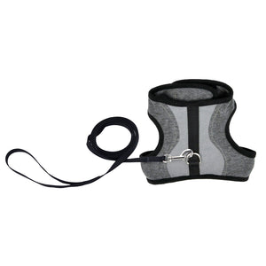 Coastal Cat Harness Wrap Grey With 6ft Leash