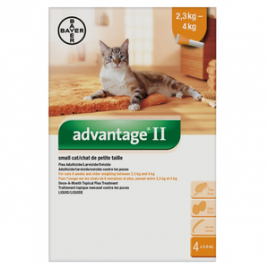 Bayer Tick and Flea Advantage II Small Cat Between 2.3kg - 4kg