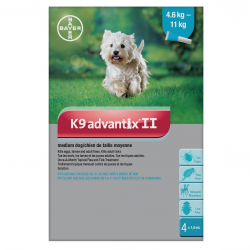 Bayer Tick and Flea Advantix II Medium Dog Between 4.6kg - 11kg