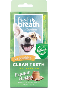 Tropiclean Fresh Breath Oral Gel Peanut Butter 118ml Dog