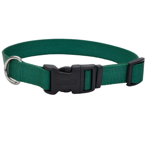 Coastal Adjustable Dog Collar Tuff Hunter Green