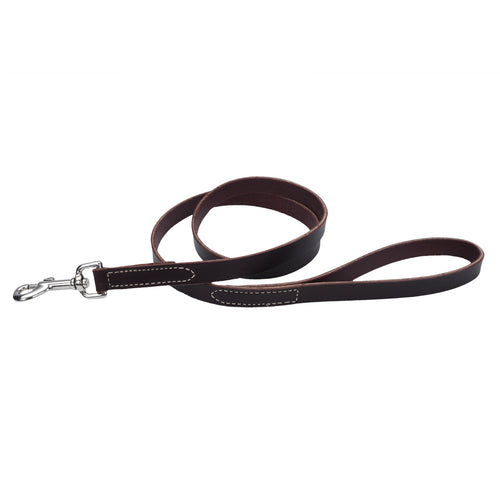 Circle T Leash 4ft Brown Latigo Leather