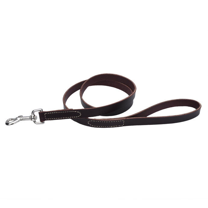 Circle T Leash 6ft Brown Latigo Leather