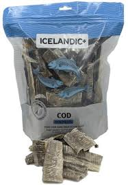 Icelandic 227g Cod Skin Pieces Dog Treats