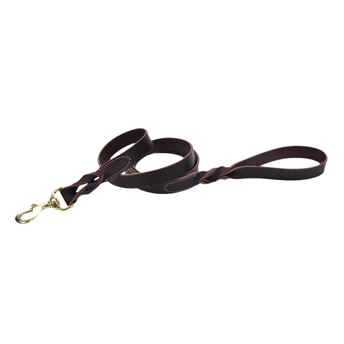 Circle T Leash 6ft Brown Latigo Twist Leather