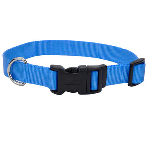 Coastal Adjustable Dog Collar Tuff Light Blue