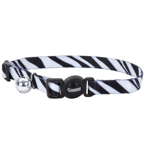 Coastal Adjustable Safe Cat Fashion Collar 8-12IN Breakaway Zebra