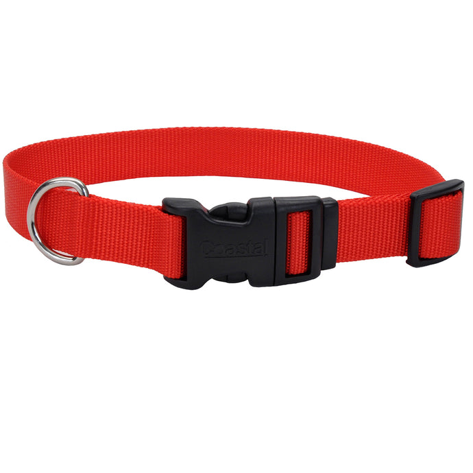 Coastal Adjustable Dog Collar Tuff Red