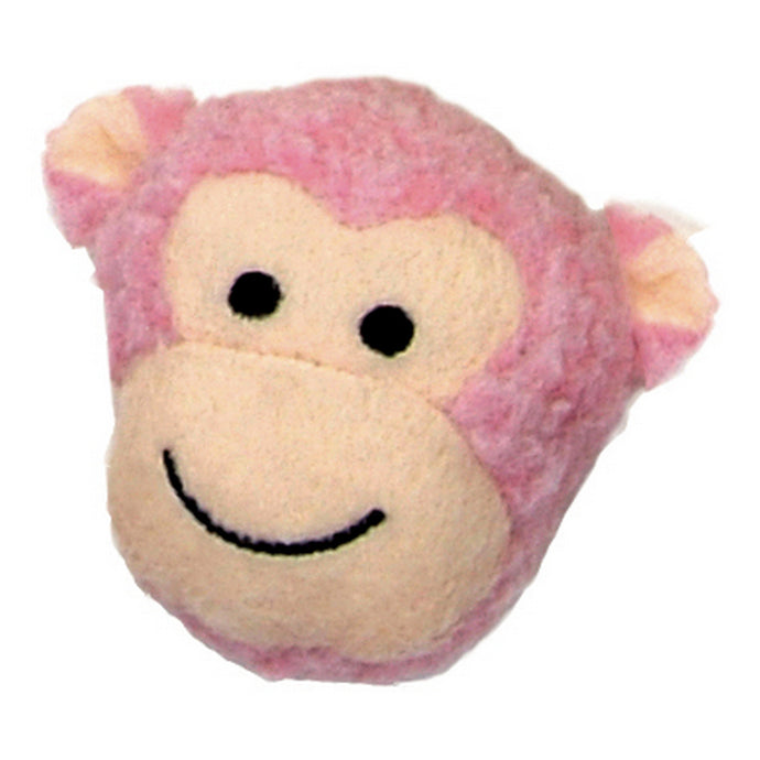 Li'l Pals Fleece Monkey HeadDog Toy