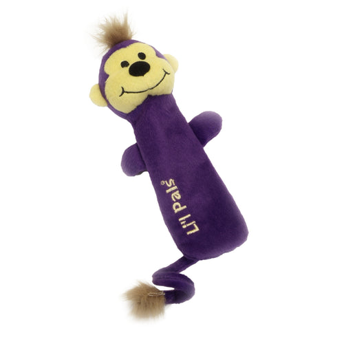 Li'l Pals Plush Crinkle Monkey Dog Toy