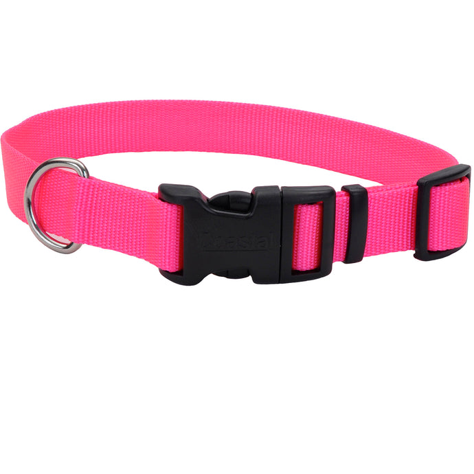 Coastal Adjustable Dog Collar Tuff Pink