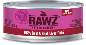 Rawz Beef and Beef Liver Pate Canned Cat Food
