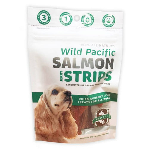 Snack 21 Salmon Strips Dog Treats