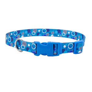 Coastal Adjustable Styles Dog Collar Bubbles