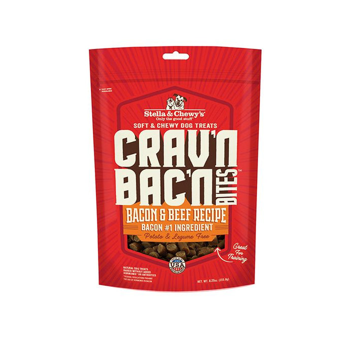 Stella & Chewy's Crav'n Bac'n Bites Bacon & Beef Recipe 234g Dog Treats