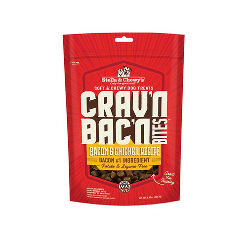Stella & Chewys Crav'n Bac'n Bites Bacon & Chicken Recipe 234g Dog Treats