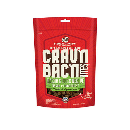 Stella & Chewys Crav'n Bac'n Bites Bacon & Duck Recipe 234g Dog Treats