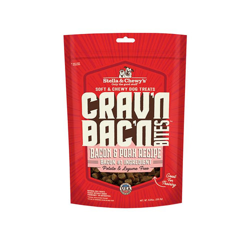 Stella & Chewys Crav'n Bac'n Bites Bacon & Pork Recipe 234g Dog Treats
