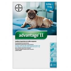 Bayer Lice and Flea Advantage II Medium Dog Between 4.6kg - 11kg
