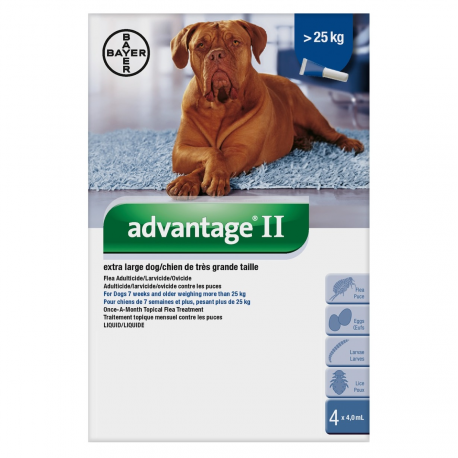 Bayer Lice and Flea Advantage II Extra Large Dog Over 25kg