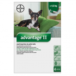 Bayer Tick and Flea Advantage II Small Dog Under 4.5kg