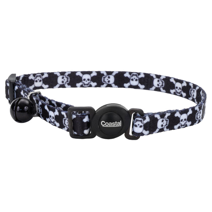 Coastal Adjustable Safe Cat Fashion Collar 8-12IN Breakaway Skulls