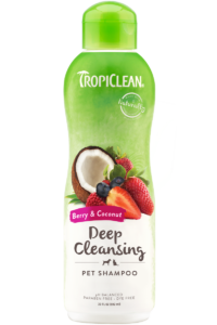 Tropiclean Berry and Coconut Deep Cleansing Pet Shampoo 592ml Dog and Cat