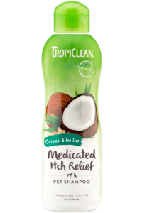 Tropiclean Oatmeal and Tea Tree Medicated Pet Shampoo 592ml Dog and Cat