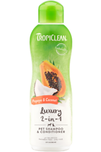 Tropiclean Papaya and Coconut Pet Shampoo and Conditioner 592ml Dog and Cat
